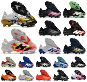 Горячие 2020 Predator мутаторный 20,1 Low FG Сел PP Mens Погба мальчиков Футбол Футбол обувь 20 + х Бутсы сапоги Размер 39-45