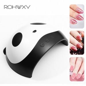 ROHWXY 36W UV LED Lampe ongles Sèche-mains Panda double ongles lampe UV pour Durcissement Gel Polish avec capteur minuterie LCD U4f1 #