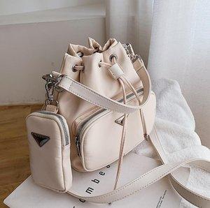 2020 женщин способа вскользь мешки плеча Bucket Lady Малого сумки Хобо Lady Композитного сумка подмышки сумка