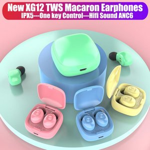 Cgjxsxg12 Tws Earphones Stereo Wireless Bluetooth 5 .0 Headphone Bass Earbuds Handsfree Gaming Headsets With Mic Charging Box For Android Ph