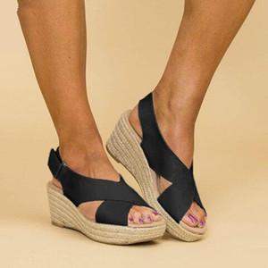 de Verão Buckle Mulheres Sandals Velvet Flock boca de peixe de moda de salto alto plataforma aberta Toes Mulheres Sandálias Sapatos Drop Shipping