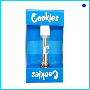 New Cookies Carts Vape Cartridge Empty Disposable pen Ceramic silver Atomizer Runtz Smart OEM brand custom OEM Packaging Clear Glass Tank