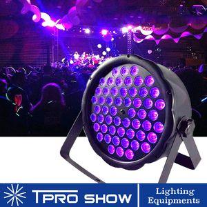 Desempenho escuro Blacklight Partido Luz UV LED Par 54x3W UV Disco Light Plano Strobescope Stage Lighting Effect Dmx Controle de som