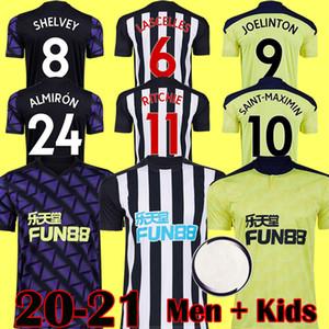 20 21 Nueva NUFC Home Kit de fútbol jerseys Shelvey 2020 2021 camiseta de fútbol Joelinton ALMIRON RITCHIE GAYLE hombres kits Equipos de niños