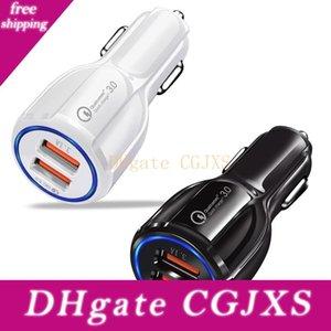 Auto-Ladegerät Qc 3 .0 Fast Car Charger 6a Quick Charge Dual-USB-Anschluss für Samsung Smartphone mit Kleinpaket