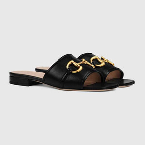 최고 럭셔리 데바 여성 가죽 슬라이드 샌들 홀스 빗 야외 레이디 비치 샌들 캐주얼 슬리퍼 여성 컴포트 워킹 신발 골드 톤