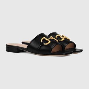 Top Luxus Deva Damen Leder Slides Sandale Trensen goldfarbener Außen Lady Strand Sandalen Casual Hausschuhe Damen Comfort-Walking-Schuhe