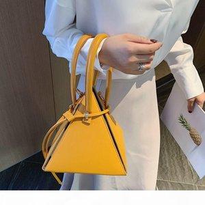 Bolsa Mulheres grife de luxo de moda 2020 estilo coreano sacolas triângulo para saco de mão mulheres de couro pequena bolsa