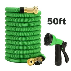 Car Garden Spray Water Gun with Expandable Hose with 6 Function Nozzle Durable Flexible Water Hose (50ft)