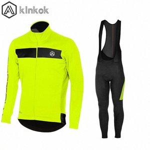 Men Winter Thermal Cycling Jacket Set Windproof Waterproof Warm Outdoor Bike MTB Jacket Pant Bicycle Suit Cycling Clothing CS5G#