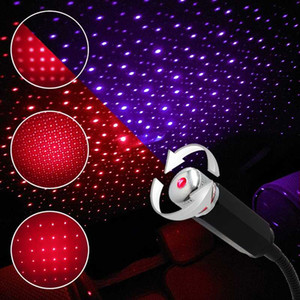 USB 자동차 지붕 스타 나이트 라이트 프로젝터 분위기 갤럭시 램프 장식 별이 빛나는 하늘 빛 조절 다중 조명 효과