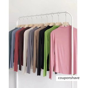 Basic half-high collar chic slimming long-sleeved T-shirt base shirt stretch all-match casual top for women multi-color