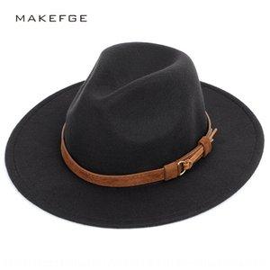 Moda inverno lana grandi Eaves cappello gentiluomo gronda piana del cappello del sole della protezione cornicione lana cap cornice stile caldo britannico