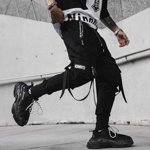 Avril 2020 hommes MOMO New Spring Hip Hop Pantalons Chanteur de club Scène Pantalons Costume Rubans Streetwear Joggers Sweatpants Hombre