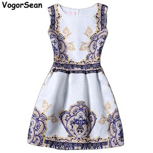 Womens Dresess Print Elegant Summer Style Casual Female Vestidos Festa Robe Femme Vintage Club Party Dress For Work 0921