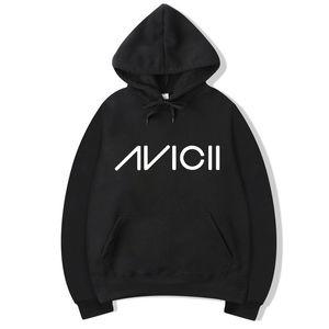 Vsenfo DJ Avicii sudaderas con capucha Hombres Mujeres Harajuku Fleece Pullover Tim Berg Bergling Avicii unisex con capucha