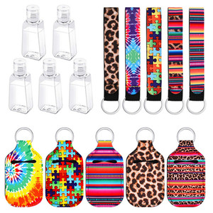 Customize Neoprene Hand Sanitizer Bottle titular chaveiro Bolsas 30ml Favor Hand Sanitizer Bottle Chapstick Titular Chaveiros partido