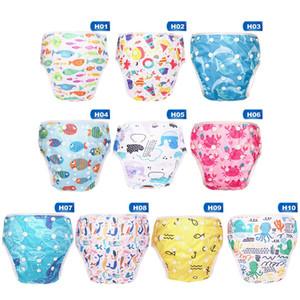 Bebek Swim Nappy Bezi Kapak Karikatür Wimwear Bezi Bebek bezleri Yüzme bavulları Havuzu Pantolon Bebek Yürüyor Çocuk Külot yazdır