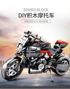 Lego ünlü otomobil 100-300 blok çocuk Harley Motosiklet modeli oğlan eğitim oyuncak doğum günü hediyeleri ile uyumlu Sınır ötesi satış