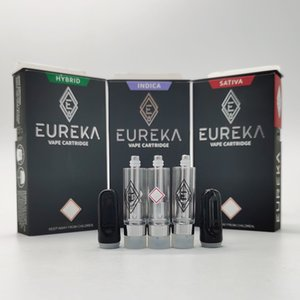 Le plus récent Eureka Vape Pen 0.8ml 1,0ml Chariots en céramique 510 vide Disposbale Vape Cartouches d'emballage cigarettes électroniques