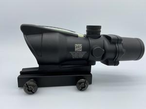ACOG 4X32 스타일 광학 전술 범위 리얼 광섬유 녹색 십자선 리얼 녹색 섬유 소스 결투 조명 소총 범위