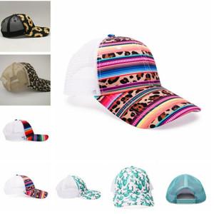 8style Yılan Beyzbol Şapka İnek Baskı Leopar Ayçiçeği Serape Mesh Cap Moda Çizgili kaktüs Şapka Açık Sunhat GGA3662-3 Caps