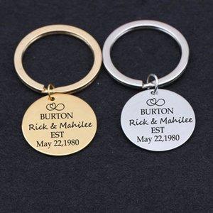 Date Nom personnalisé Porte-clés Tag Électrocardiogramme Charm Entiers Cadeaux Trousseau pilote Famille Amis clés Porte de voiture