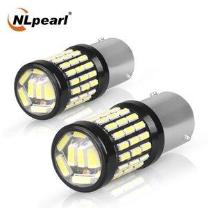 NLpearl 2x Signal Lamp 1157 Bay15d Led Bulb 12V 4014SMD P21w LED 1156 Ba15s Bau15s Auto Reverse Brake Light Turn Signal Light