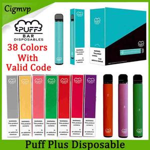 Слоеное Plus Одноразовые устройства Pod Starter Kit 800 + Puff 550mAh Аккумулятор 3,2 мл картридж Vape Пустой Pen Портативный Испаритель PK Puff XXL Flow Xtra
