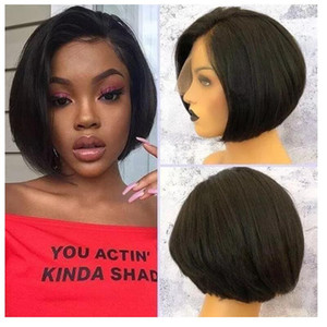 Magic Love Short Bob Human Hair Lace Front Wigs Preplucked 200% Pixie Cut Remy Hair Wigs With Baby For Women