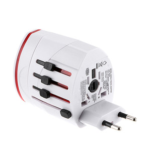 All In One dupla porta USB e US UK AU UE Universal de viagem adaptador AC Plug Power Adapter UE UK EUA AU Branco DHL preto shiping livre