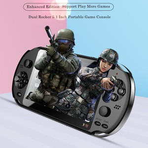 """X12 Video Game 5.1"""" LCD Double Handheld Game Console For Retro Dual Rocker Joystick 5.1 Inch Screen TV"""