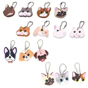 Dom Shell Animais Key Cap Lindo anel A7 Tampa Forma Pc Dog 1 Head Case Silicone Jóia Keychain Cat 624_tsetRVv nana_shop