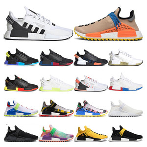 신발을 실행하는 NMD R1 V2 망은 핵심 검은 멕시코 시티 네온 인간 경주 퍼렐 윌리엄스 누드 빈 괴상한 흑인 여성 스포츠 야외 창백