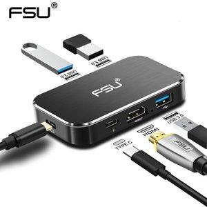 Fsu Hub USB 4k 60Hz Usb C al adaptador de HDMI 100w Pd de carga 3usb 3 0.0 Conector Para Macbook Huawei Mate de 20 P20 T191015