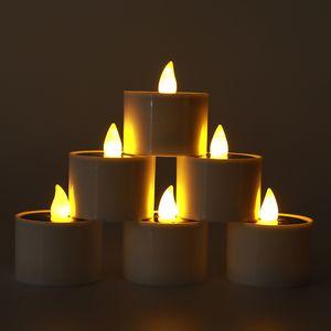 La energía solar del té del LED luz de las velas sin llama de velas, velas solar para Windows decoración del hogar, jardín, solar al aire libre de la linterna Crestech