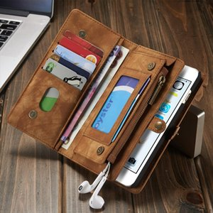 Genuine Leather Wallet Phone case for iPhone X,super organizer wallet money purse cards holder with magnetic detachable case