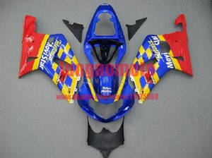 corredi del corpo per GIALLO ROSSO BLU SUZUKI GSXR600 2001 2002 2003 750 K1 K2 GSXR 600 750 01 02 03 K1 K2 GSXR600 GSXR750 carenatura kit carrozzeria + regalo