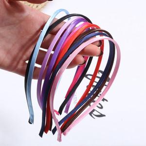 5pcs 5mm Süßigkeit-Farben-Tuch-Haarband Thin Kopf-Band-Band-Basis Bands Edelstahl für DIY Haarschmuck Blank niedriger Entdeckungen