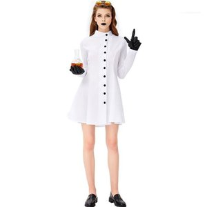 Halloween Female Clothing Festival Sexy Style Dresses 3Pcs Fashion Casual Apparel Theme Costume Female Scientist Cosplay Occupational