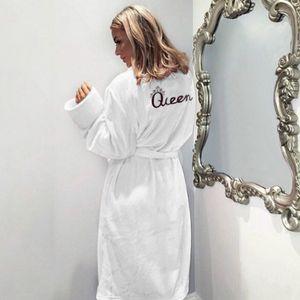 Flannel donne accappatoio caldo di inverno Accappatoio soft spessore Carino ginocchio damigella d'onore Robes Femminile Accappatoio Sleepwear