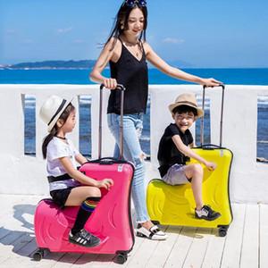Cute kid Trolley valigie a rotelle bambini Carry On Spinner girlsboys sacchetto di scuola bella Bagagli di rotolamento borsa da viaggio degli studenti