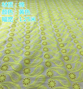 Cotton Cloth Hollow-out Lace Fabrics Embroidered 130cm Women's Clothes Skirt Home Textile Tablecloth Fabric