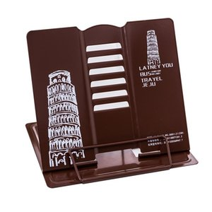 Custom Metal Desktop Reading Rack Foldable Metal Book Stand Any Pattern 19cm*21cm*16.5cm Desktop Storage