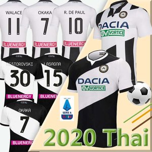20 21 Maglia Udinese Calcio Soccer Jersey 2019 2020 kit maison noir blanc PAUL JANKTO TER AVEST pezzella BEHRAMI Football Shirt