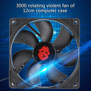 12cm Big 4 Pin High Speed Desktop Chassis Fan Large Air Volume PC Case Radiator PC Desktop Laptop Accessaries Parts