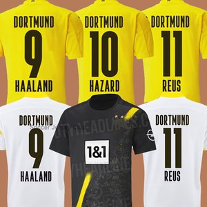 Camisetas de fútbol HAALAND REUS 20 21 Borussia dortmund 2020 2021 camiseta de fútbol 110th SANCHO REUS HUMMELS BRANDT hombre hombres + niño niños kit maillot