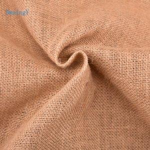 DwaIngY 5050 # Natural yute trabajo de la tela Sa paño de lino para DIY mano / Bolsas de almacenamiento / Decoración de Navidad 160 * 50cm / piece