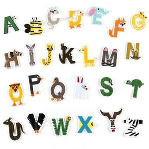 20200816 26 lettere inglesi personalizzati cerotto adesivo per gli accessori dei vestiti del fumetto degli animali