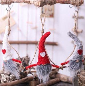 Gnome en peluche Poupée de Noël suédois Gnome Père Noël en peluche Poupée Arbre de Noël Ornement Accueil poupée en peluche KKA8034